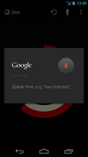 Set time by voice